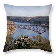 Devils River Hi Bridge Throw Pillow