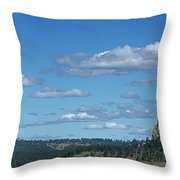Devils Tower And The Missouri Hills Throw Pillow