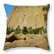 Devils Tower Four Throw Pillow