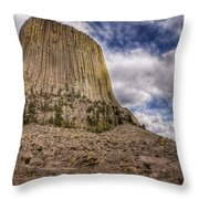 Devil's Tower Summer Afternoon Throw Pillow