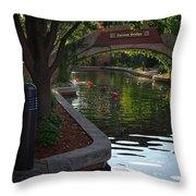 Devon Canal Bridge  Throw Pillow