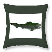 Devonian Dunkleosteus Fish Throw Pillow