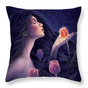 Devotee To Beauty Throw Pillow