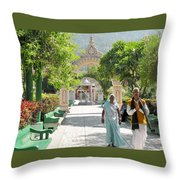 Devotees In Rishikesh India Throw Pillow