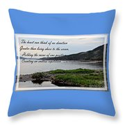 Devotion By Poet Robert Frost Throw Pillow