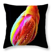 Dew Beaded Tulip Throw Pillow