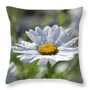 Dewdrop Daisy Throw Pillow