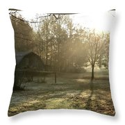 Dewdrop Sunrise Throw Pillow