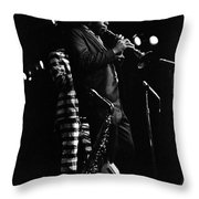 Dewey Redman Throw Pillow