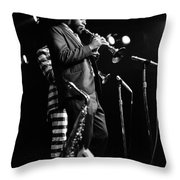 Dewey Redman On Musette Throw Pillow