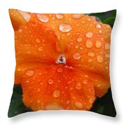 Dewy Pansy 1 Throw Pillow