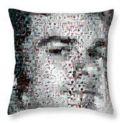 Dexter Blood Splatter Mosaic Throw Pillow