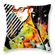 Dexterous Dame Throw Pillow by Chris Andruskiewicz