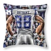 Dez Bryant Cowboys Art 2 Throw Pillow