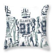 74ffe28a83f141 Dez Bryant Ezekiel Elliott Dak Prescott Dallas Cowboys Pixel Art Throw  Pillow