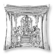 Dhanvantari, God Of Ayurvedic Medicine Throw Pillow
