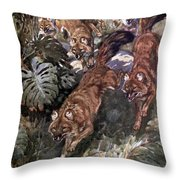 Dhole, Endangered Species Throw Pillow