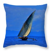 Dhow On The Indian Ocean 2 Throw Pillow