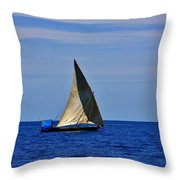 Dhow On The Indian Ocean Throw Pillow