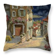 Di Notte Al Mare Throw Pillow by Guido Borelli