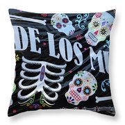 Dia De Los Muertos Banner  Throw Pillow