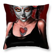Dia De Los Muertos The Vapors Throw Pillow by Pete Tapang