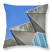 Diagonal Blue B Throw Pillow