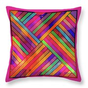 Diagonal Offset Throw Pillow