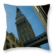 Diagonal View Of Pedestrian Bridge Throw Pillow