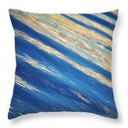 Diagonal Waters Throw Pillow