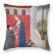 Dialogue Between Boethius And Philosophy Throw Pillow
