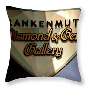 Diamond And Gem Gallery Throw Pillow