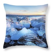 Diamond Beach  Throw Pillow