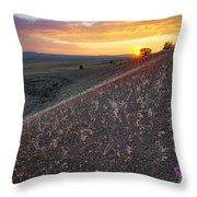 Diamond Craters Sunset Throw Pillow