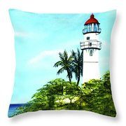 Diamond Head Lighthouse #10 Throw Pillow