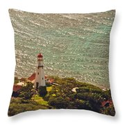 Diamond Head Lighthouse Throw Pillow