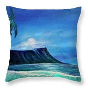 Diamond Head Moonscape #371 Throw Pillow