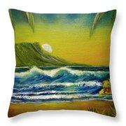 Diamond Head Sunrise #381 Throw Pillow