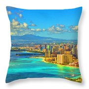 Diamond Head Throw Pillow