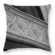 Diamond Patterns In Black And White Throw Pillow