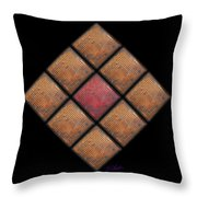 Diamond Red Throw Pillow