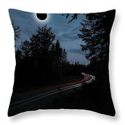 Diamond Ring Solar Eclips Over Route 66 By Adam Asar 3 Throw Pillow