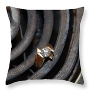 Diamond Rings Throw Pillow