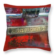 Diamond T Throw Pillow