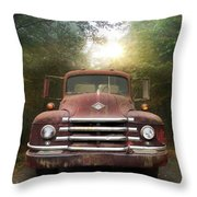 Diamond T Truck Throw Pillow
