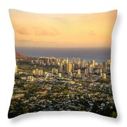 Diamondhead -- Jewel Of Oahu Throw Pillow