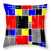 Diamonds And De Stijl Throw Pillow by Tara Hutton