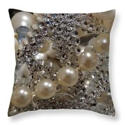 Diamonds And Pearls 2 Throw Pillow
