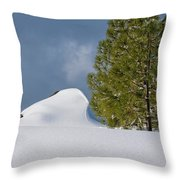 Diamonds In The Snow Throw Pillow