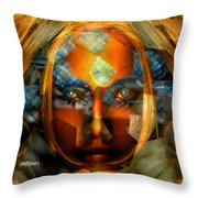 Diamonella Throw Pillow